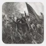 Asalto del punto pedregoso, julio de 1779 pegatina cuadrada