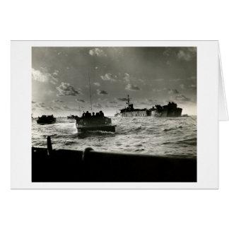 Asalto Iwo Jima de los infantes de marina de WWII  Tarjeton