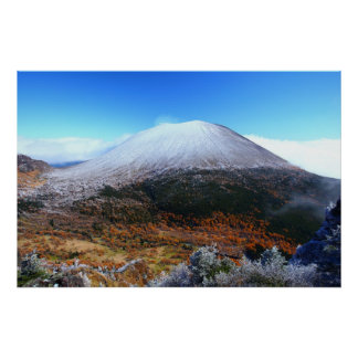 Asama mountain of crown snow posters