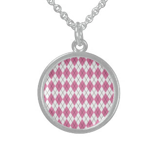 asamblea 70er rosada collar de plata esterlina