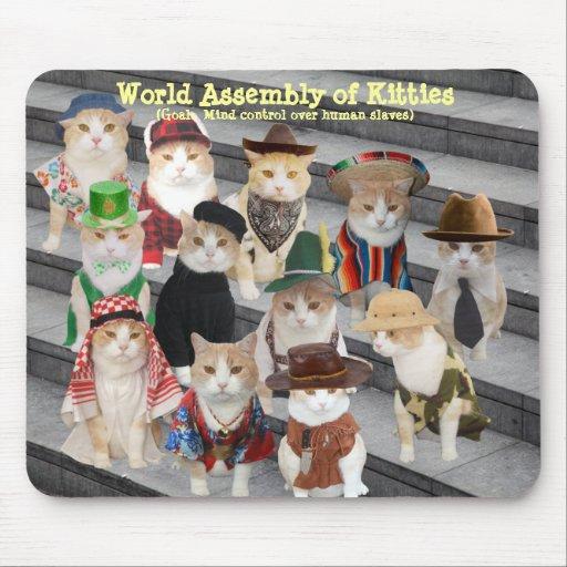 Asamblea del mundo de gatitos tapetes de raton