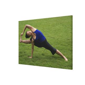 Asana yoga gallery wrapped canvas