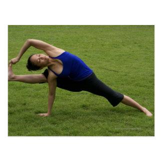 Asana yoga postcard