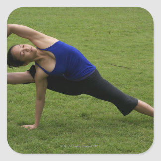 Asana yoga square sticker
