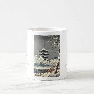 Asano Takeji Sarusawa Pond Shin Hanga art Classic White Coffee Mug