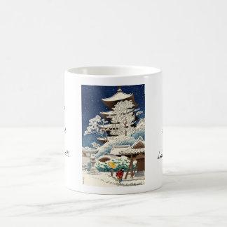 Asano Takeji Snow in Toji Temple shin hanga art Classic White Coffee Mug