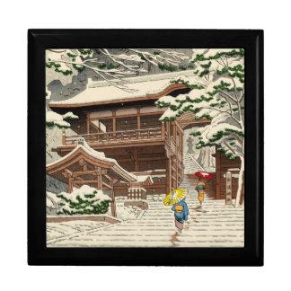 Asano Takeji Snow in Yuki Shrine shin hanga art Gift Box