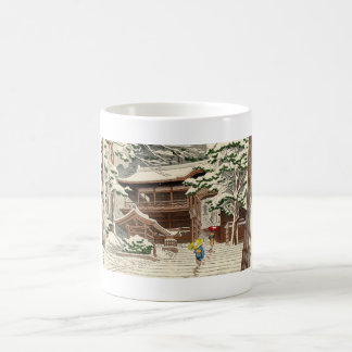 Asano Takeji Snow in Yuki Shrine shin hanga art Classic White Coffee Mug