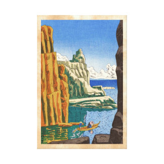 Asano Takeji Tojinbo japanese waterscape seaside Canvas Prints