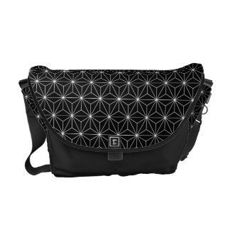 Asanoha Japanese Pattern Messenger Bag B