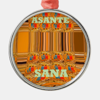 Asante Sana Kenya Traditional Tribes Hakuna Matata Metal Ornament