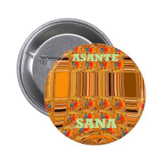 Asante Sana Kenya Traditional Tribes Hakuna Matata Pinback Button
