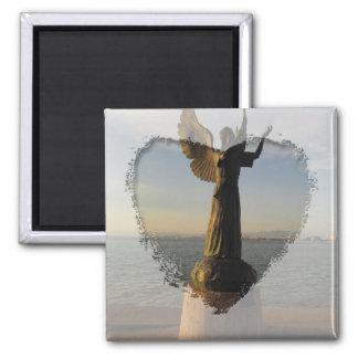 ASAS Angel Statue at Sunset Magnet