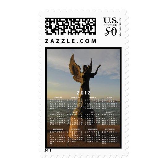 ASAS Angel Statue at Sunset Postage