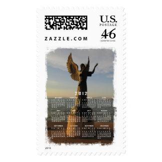 ASAS Angel Statue at Sunset Stamp