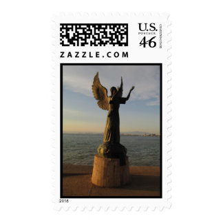 ASAS Angel Statue at Sunset Stamps