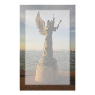 ASAS Angel Statue at Sunset Stationery