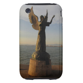 ASAS Angel Statue at Sunset Tough iPhone 3 Case