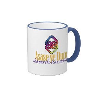 Asase ye Duro Ringer Coffee Mug