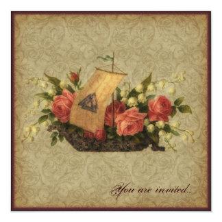 Asatru Floral Ship Card