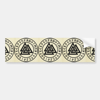 Asatru, old norse religion, symbols, odin & Thor Bumper Sticker