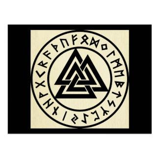 Asatru, old norse religion, symbols, odin & Thor Postcard