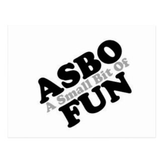 ASBO Fun Postcard