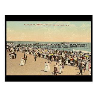 Asbury Avenue, Asbury Park, New Jersery Postcard