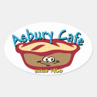 Asbury Cafe Oval Sticker