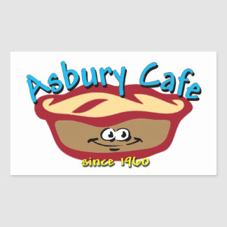 Asbury Cafe Rectangle Sticker
