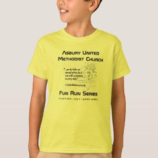 Asbury Fun Run Series Kids Shirt (safety green)