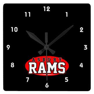 Asbury High School; Rams Square Wall Clocks
