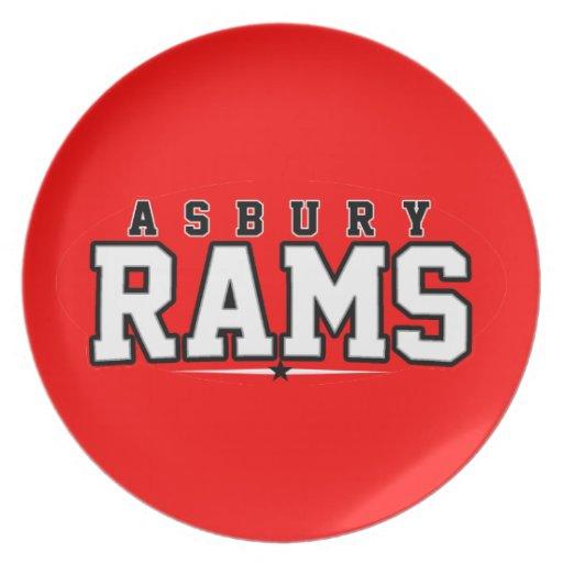 Asbury High School; Rams Plates