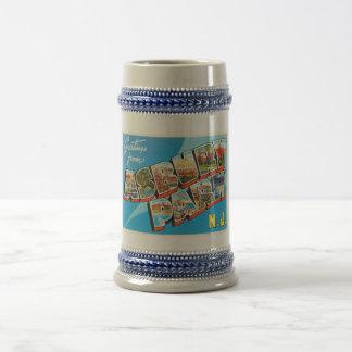 Asbury Park New Jersey NJ Vintage Travel Postcard- Beer Stein