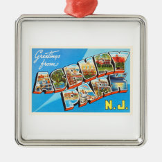 Asbury Park New Jersey Nj Vintage Travel Postcard- Metal Ornament at Zazzle
