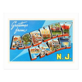 Asbury Park New Jersey NJ Vintage Travel Postcard- Postcard