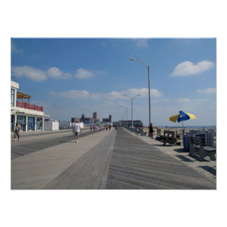 Asbury Park NJ Boardwalk and stores Poster