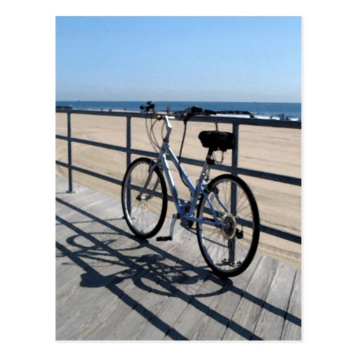 Asbury Park NJ Boardwalk - Bicycle Postcard
