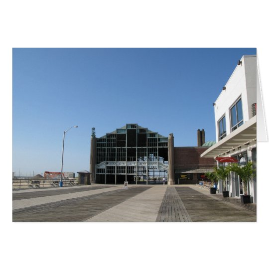 Asbury Park NJ Boardwalk - Casino Building Card