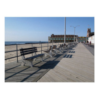 Asbury Park NJ Boardwalk Cyclists Poster