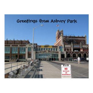 Asbury Park NJ Boardwalk Paramount Convention H... Postcard