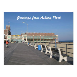 Asbury Park NJ Boardwalk Postcard