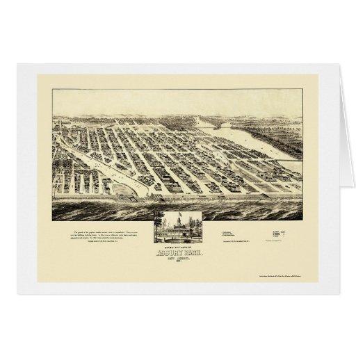 Asbury Park, NJ Panoramic Map - 1897 Card