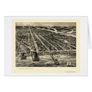 Asbury Park NJ Panoramic Map - 1910 Cards