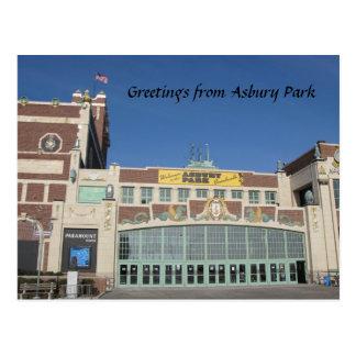 Asbury Park NJ Paramount Theatre & Convention Hall Postcard