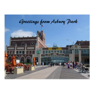 Asbury Park NJ Paramount Theatre, Greetings fro... Postcard