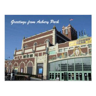 Asbury Park NJ - Paramount Theatre on boardwalk Postcard