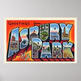 Asbury Park Vintage Greetings Poster