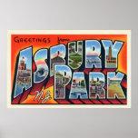Asbury Park Vintage Greetings Print