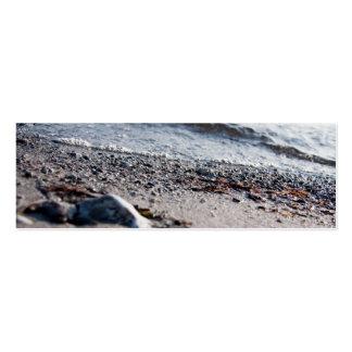 Ascendente cercano de la playa tarjetas de visita mini